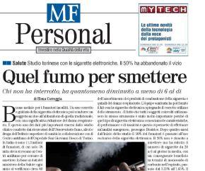 MF | Studio torinese con le sigarette elettroniche. Il 50% ha abbandonato ilvizio
