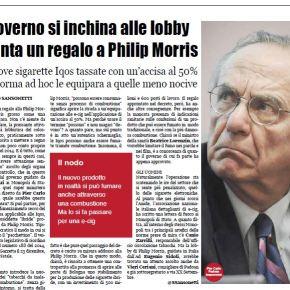 La Notizia Giornale | The Government bows to the lobby. A gift for PhilipMorris