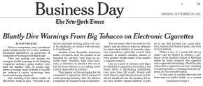 NY Times | Ecco come Big Tobacco dichiara guerra alle e-cig cheproduce