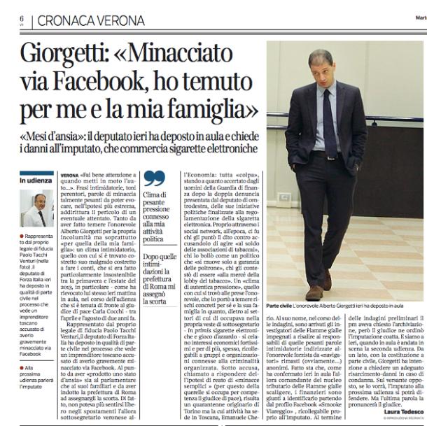 Corriere di Verona - Giorgetti