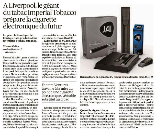 Les Echos_Imperial Tobacco_3 agosto