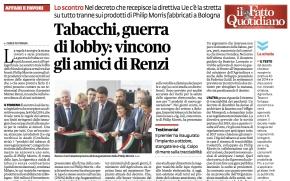 Tabacchi, guerra di lobby: vincono gli amici di Renzi | Il FattoQuotidiano