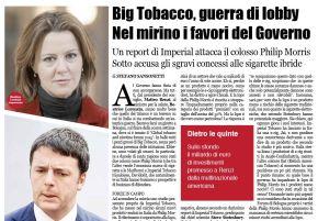 Guerra di lobby a Big Tobacco. Che favori a Philip Morris | La NotiziaGiornale
