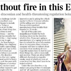 Direttiva Tabacchi, un nonsense tutto europeo (TheTimes)