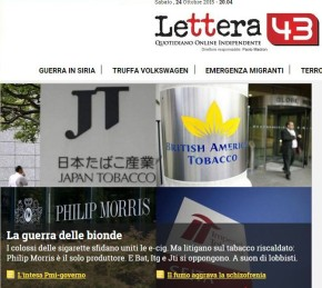 Big Tobacco ai ferri corti: la partita italiana |Lettera43