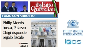 Buzz Palazzo Chigi. That's How Philip Morris Drafts the Laws | Il Fatto Quotidiano