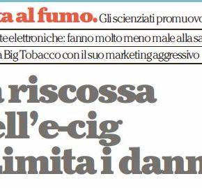 """La riscossa dell'e-cig: """"Limita i danni""""(Repubblica.it)"""